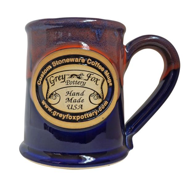 Enjoy A Boost In Impressions Pottery Mug Blue