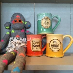 Grey Fox Pottery Sock Monkey