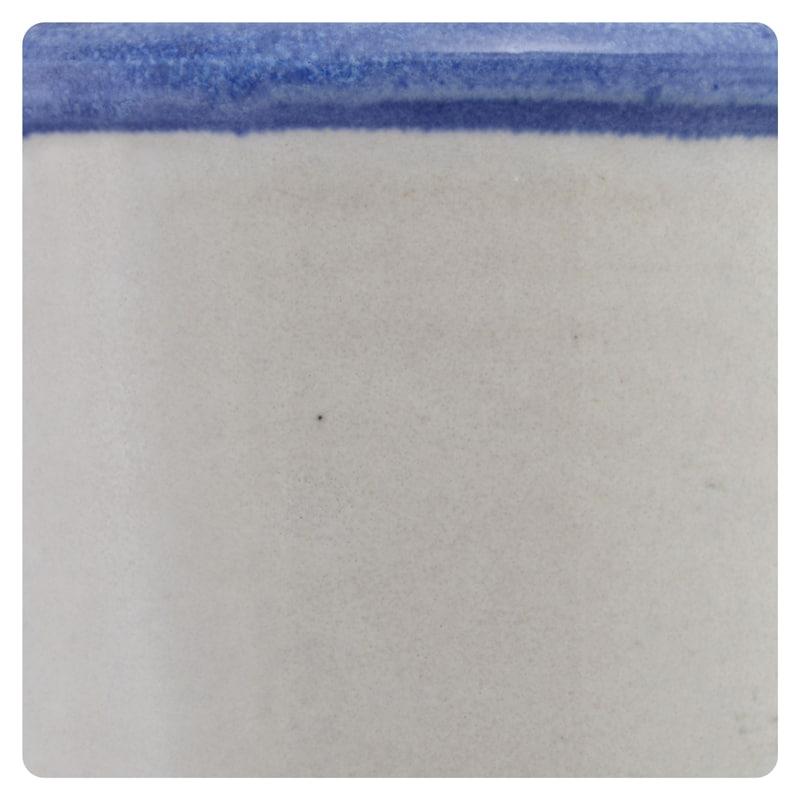 Grey with Rim Blue