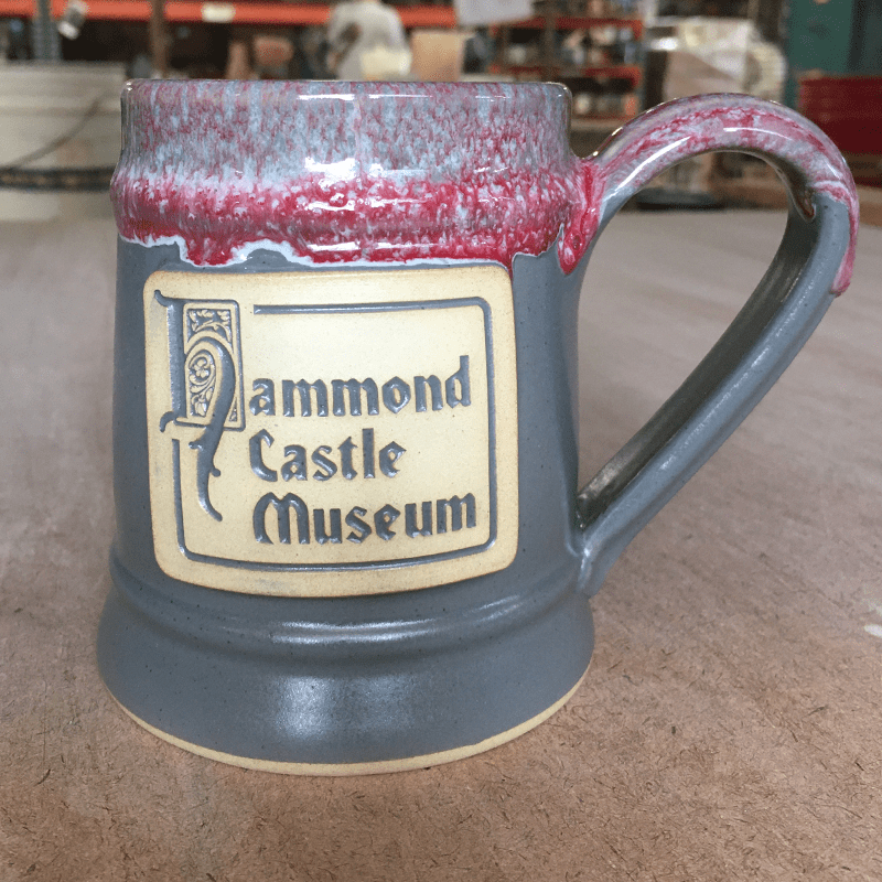 hammond castle museum gray stoneware mug